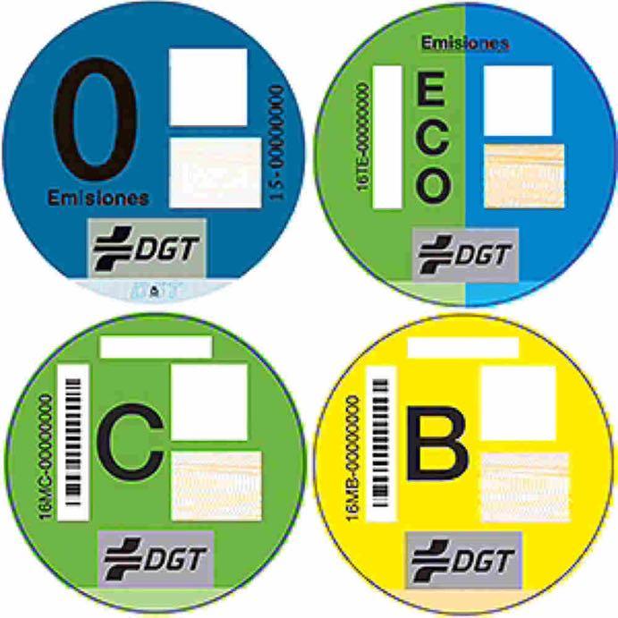 distintivo ambiental de la DGT obligatorio