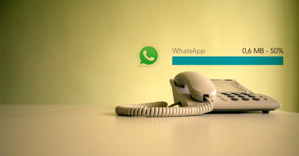 WhatsApp y las llamadas de voz - consumo datos ahorrame.com