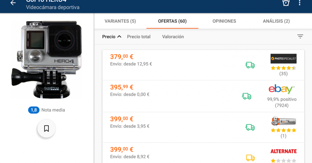 comparar precios