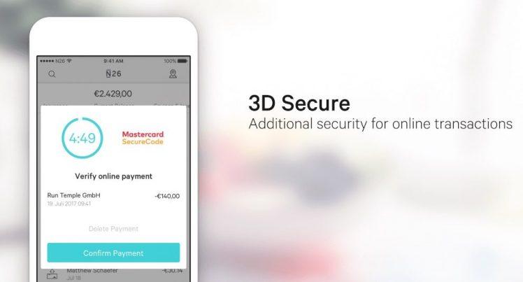 N26 3D secure
